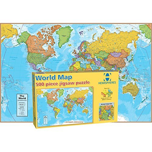 Round World Products World Map Puzzle, 500 Pieces (World Map Round compare prices)