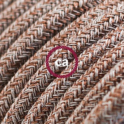 fil-electrique-rond-gaine-de-coton-de-couleur-tweed-rouille-marron-lin-naturel-et-finition-paillette