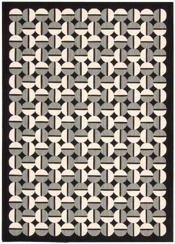 Joseph Abboud GRI02 Griffith Rectangle Machine Made Rug, 2.3 by 7.5-Feet, Onyx