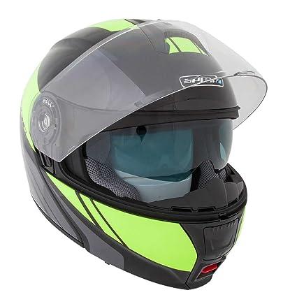 Nouveau 2015 Spada, casque moto Cyclone Blast noir/Fluo