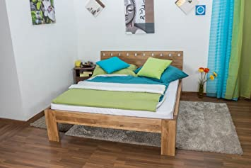 Youth Bed Wooden Nature 84, solid wild oak, oiled - 140 x 200 cm