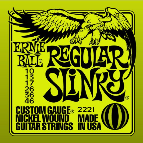 1 set of Ernie Ball Regular Slinky electric Guitar strings