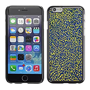 Omega Covers - Snap on Hard Back Case Cover Shell FOR Iphone 6/6S (4.7 INCH) - Blue Spots Pattern Abstract Colors