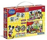 Mickey - Kit de cubos + dominó + puzzle (Clementoni 13792.3)