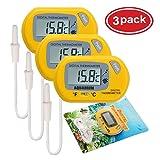 AUTIDEFY LCD Digital Aquarium Thermometer Fish Tank Water Terrarium Temperature (3 Pack) (Color: 3 Pack)