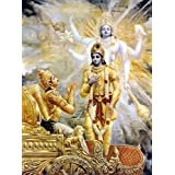 Tallenge - Krishna Reveals His Two-Armed Form To Arjuna - A3 Size Rolled Poster