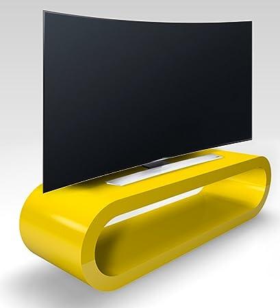Retro-Stil Hoop Große Gelbe Hochglanz-Tv-Ständer / Schrank 110cm