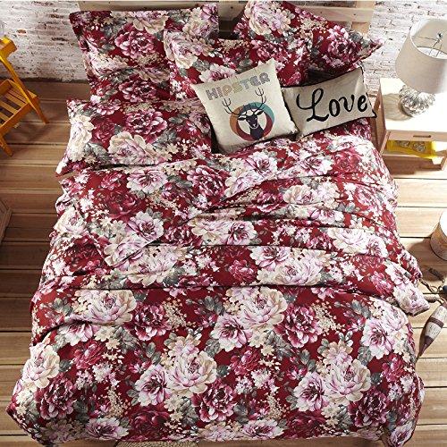 New 4Pc Bed Sheet Set Super Soft Thick Brushed Denim Reactive Bedding Set front-856145
