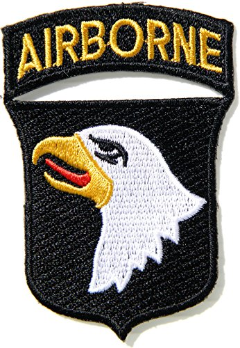 101st AIRBORNE DIVISION US Army Military Pilot Logo Tab Jacket Uniform Patch Sew Iron on Embroidered Sign Badge Costume
