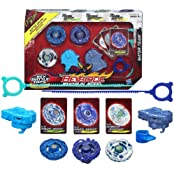 Beyblade Hasbro Year 2013 Beyblade Shogun Steel Bey Battle Tops Water Team 3 Pack Set Stamina 145 D Ss 08 Pirate...