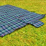 Extra Extra Large Green Picnic Blanke...