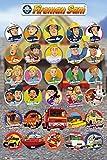 Personnages Sam le Pompier Poster Grand Format 61 x 91.5 cm