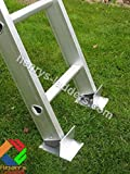 Henry's Footee Anti-Slip Ladder Stopper - Ladder Stabiliser - Pair. Use on Garden Decking or Soft Ground/Grass. Ladder Safety on Slippery Surfaces.