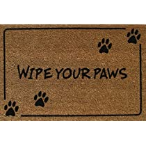 Evergreen Wipe Your PawsCoir Floormat28x16 Inches