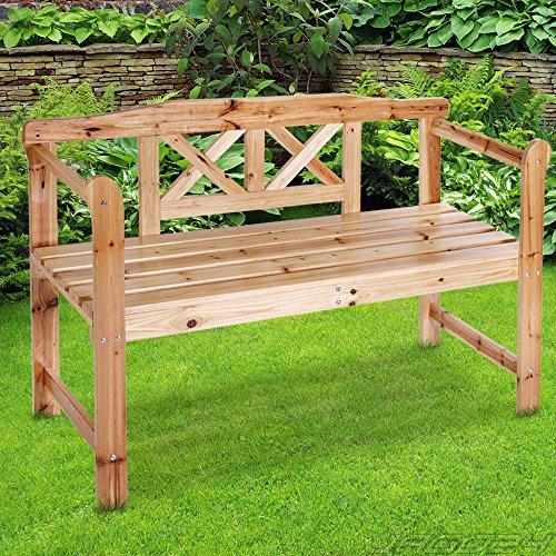 Miadomodo  Banc de jardin terrasse  en bois  2 places  119 x 75 x