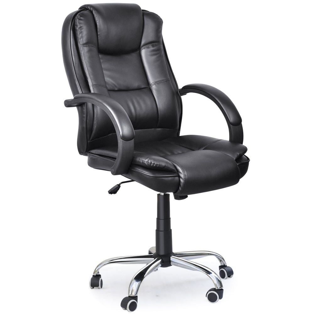 Executive High Back PU Leather Black Color Office Chair 19 Black       Office ProductsCustomer reviews and more information