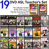 19-DVD Complete American Sign Language DVD Set Including Teacher's DVD & Workbook - NEW ~ Gilda Toby Ganezer