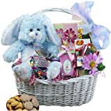 Art of Appreciation Gift Baskets My Special Bunny Easter Basket, Blue or Purple Plush Rabbit