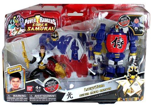 Bandai Year 2012 Power Rangers Samurai Series Action Figure Zord Vehicle Set - LIGHT ZORD with 4 Inch Tall Light Gold Super Mega Ranger