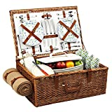 Picnic at Ascot Dorset Basket for with Blanket, Gazebo