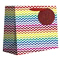 Jillson Roberts Jumbo All-Occasion Gift Bags, Bright Chevron, 6-Count (JT465)
