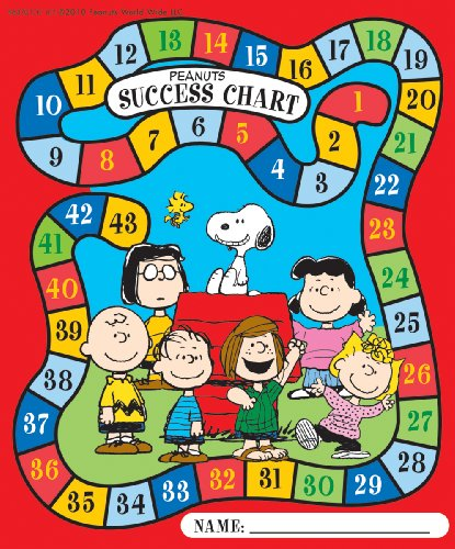 Eureka Peanuts Mini Reward/Success Charts, Package of 36 (837017)