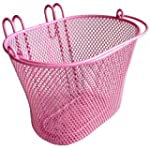 Basket with hooks PINK, Front , Remov...