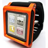 LunaTik Watch Wrist Strap for iPod Nano 6G (Orange) (Color: Orange)