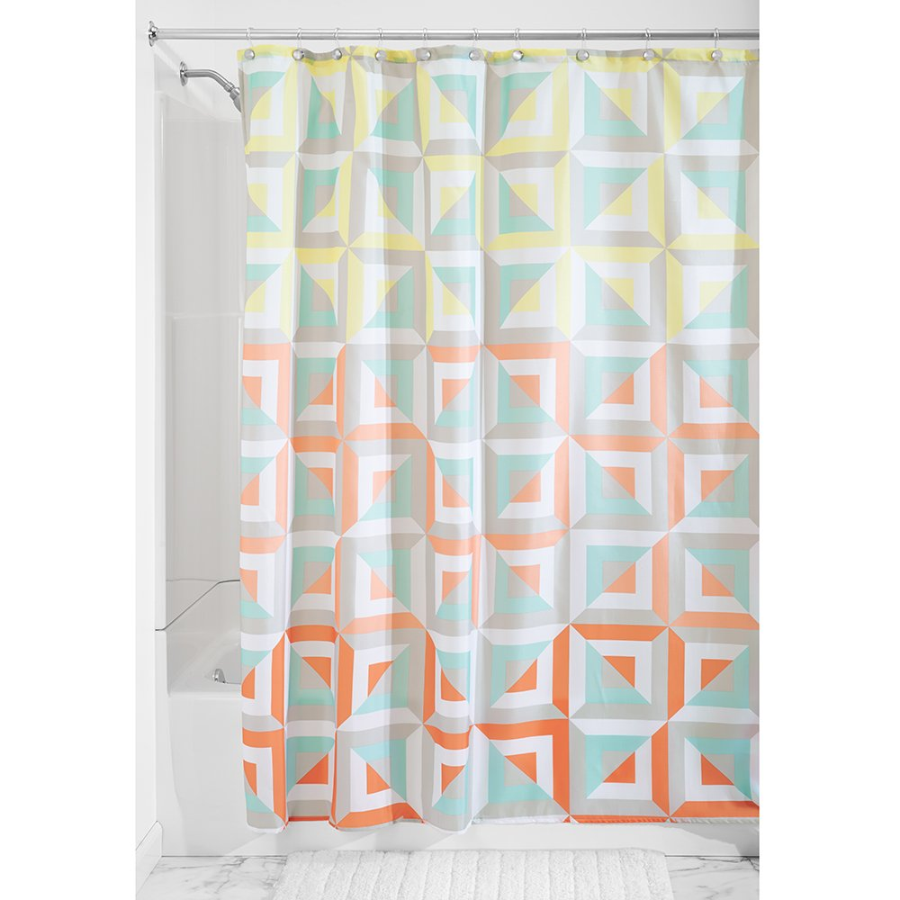 Interdesign Max Shower Curtain 72 By 72 Inch Pastel Ebay