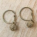 Silver Fireball Earrings