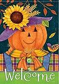 Scarecrow Pumpkin Fall Garden Flag Halloween Jack O' Lantern 13