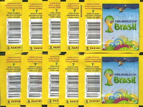 PANINI BRAZIL STICKERS 10 Packs FIFA World Cup Brasil 2014
