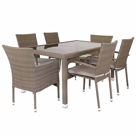 Conjunto de mesa y sillas para jardín marrón de plástico Garden - Lola Derek