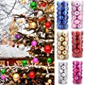 Lucoo 2017 Christmas Lovely New Fashion 24Pcs Christmas Balls Baubles Party Xmas Tree Decorations Hanging Ornament Decor