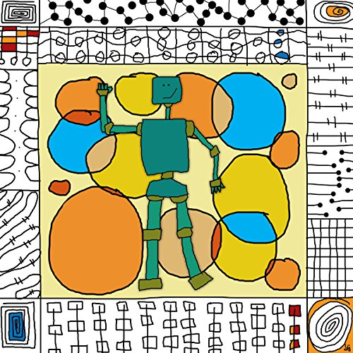 Green Leaf Art Robots 1 Canvas Art