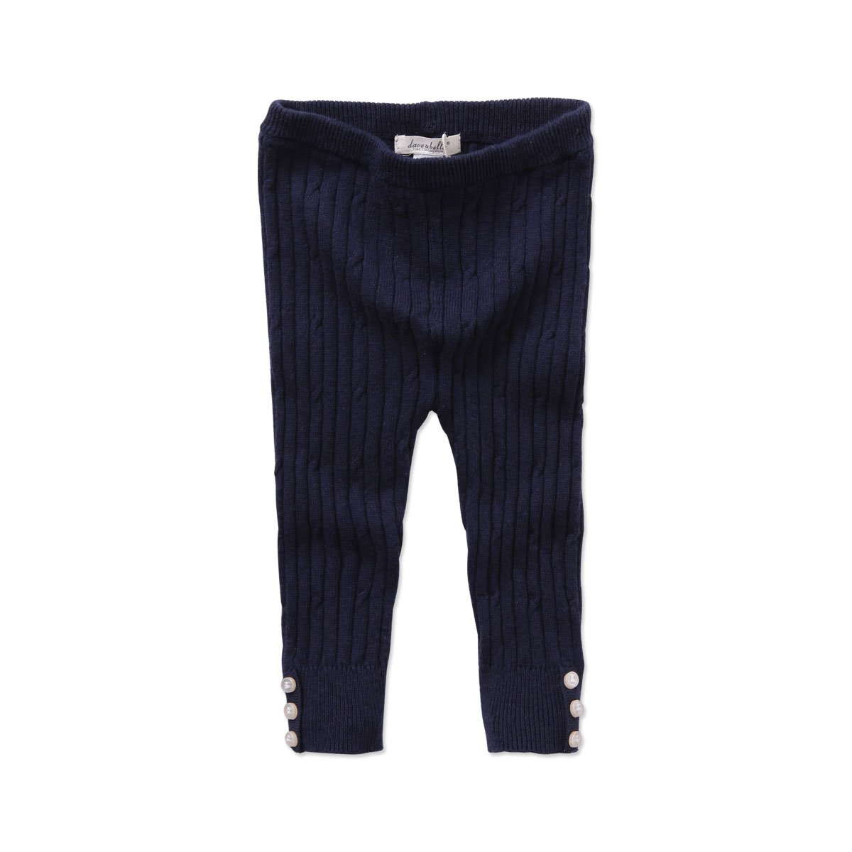 Kids N Color Baby Navy Knit Pants with Cable Design