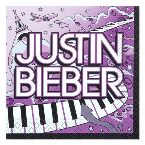 Justin Bieber Small Napkins (16ct) (Justin Bieber Party Pack compare prices)