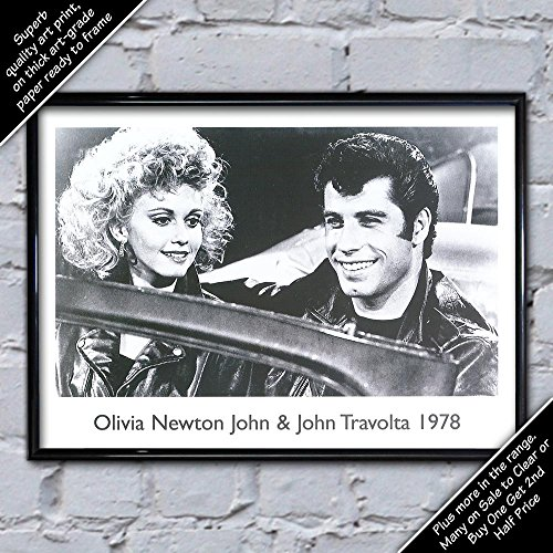 Olivia Newton John John Travolta, 30 x 20 cm