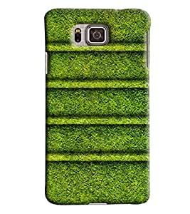 Blue Throat Grass With Stripes Pattern Printed Designer Back Cover For Samsung Galaxy Alpha