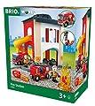 BRIO 33833 - Große Feuerwehr Station mit Einsatzfahrzeug, bunt