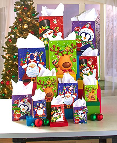 28-Pc. Holiday Gift Bag Set