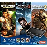Sony PS3 500GB SuperSlim Console (Free Games: Uncharted Drakes Fortune, Uncharted 2 Among Thieves And Uncharted...