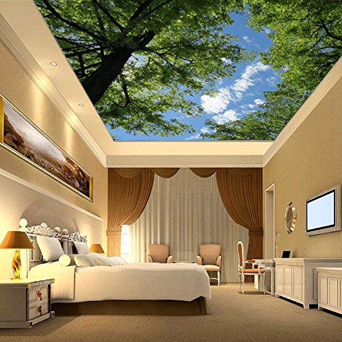 feis-blue-sky-tree-ceiling-living-room-bedroom-ceiling-seamless-wallpaper-3d-wallpaper-murals-nonwov