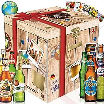 """""""BIERE DER WELT"""" entdecken + gratis Geschenkkarten! Ausgefallenes Bier aus Korea + Irland + Thailand + Kroatien + Tschechien + USA + Polen + Frankreich + Russland. Ein tolles Männergeschenk. Bierset + Geschenk, Biersorten aus aller Welt + edler Geschenkkarton."""