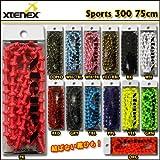 XTENEX(エクステネクス) SPORTS(スポーツ) 300(75cm) 結ばない靴ひも BK [その他]