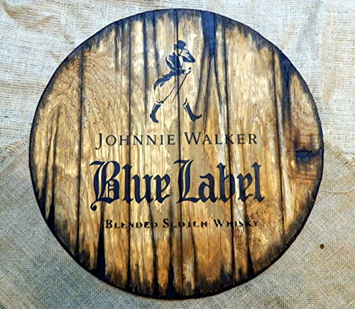 johnnie-walker-personalized-decorative-sign-whiskey-barrel-top-handpainted-artwork-and-your-addition