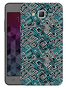 "Humor Gang Geometric Abstract Pattern - Blue Printed Designer Mobile Back Cover For ""Samsung Galaxy On7"" (3D, Matte, Premium Quality Snap On Case)..."