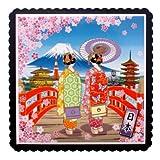 和風飾りトリベット 舞妓さん(桜) Sサイズ 箱入り