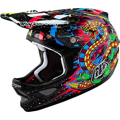 Troy-Lee-Designs-Carbon-Blacklight-D3-Adult-Bike-Sports-BMX-Helmet-Black