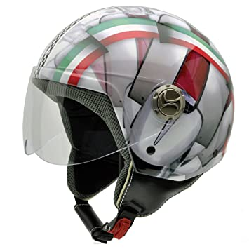 NZI 490004G340 3D Vintage II It is an Italian Thing Casque de Moto, Mix Drapeau Italien/Détail du Moto, Taille : XL